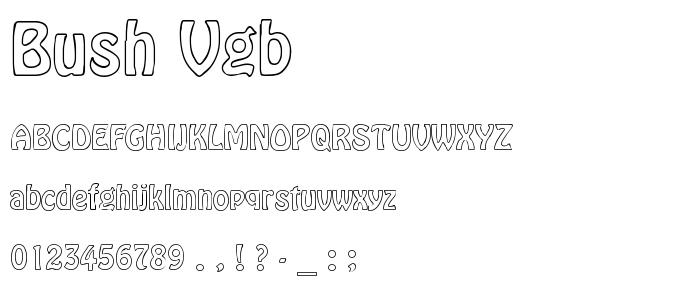 Bush Vgb font
