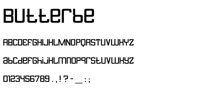 Butterbe font