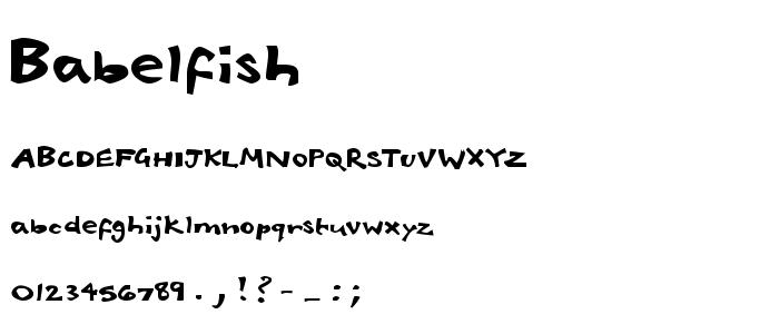 Babelfish.ttf font
