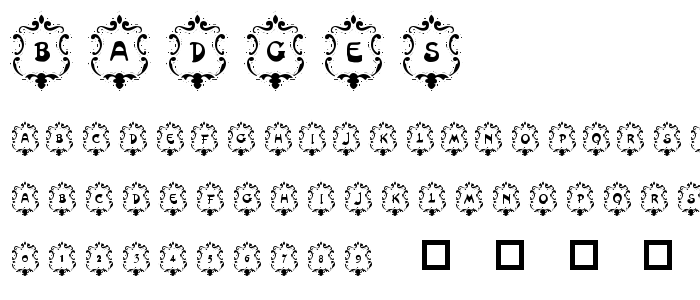 Badges font