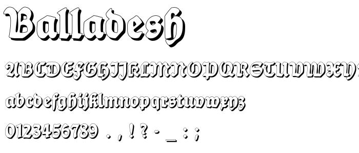 Balladesh font