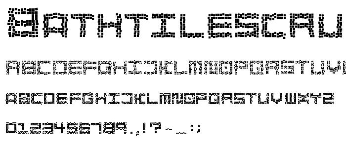 Bathtilescrumble font