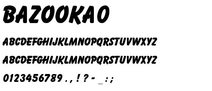 Bazooka0 font