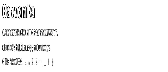 Bazzomba font
