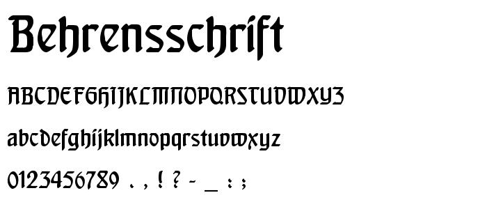 Behrensschrift font