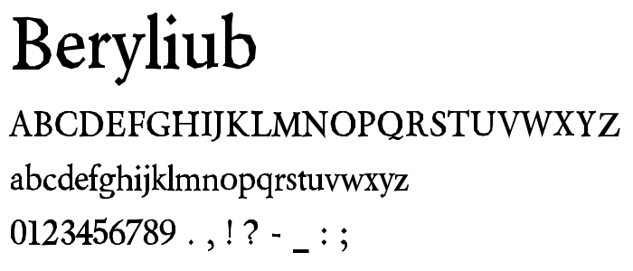 Beryliub font