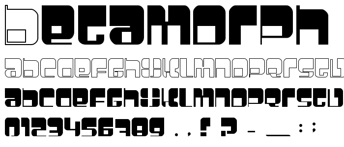 Betamorph font