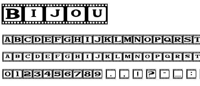 Bijou font