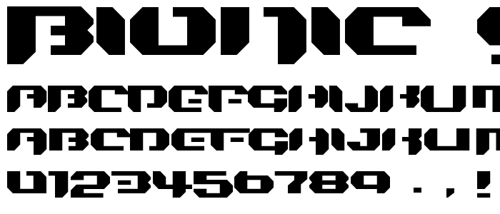 Bionic Simple font