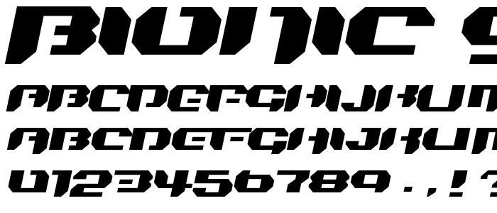 Bionic Simpleslanted font