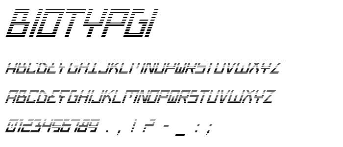 Biotypgi font
