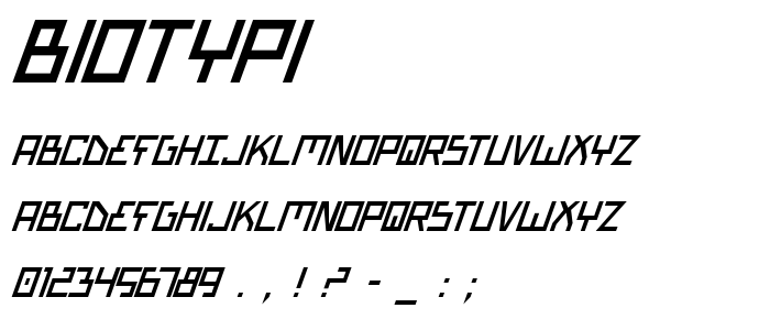 Biotypi font