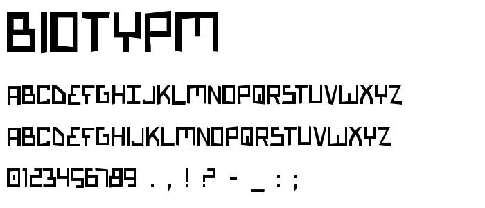 Biotypm font