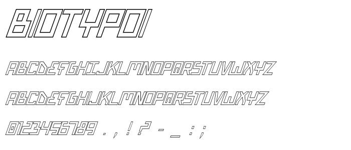 Biotypoi font