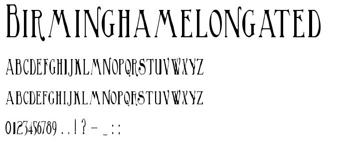 Birminghamelongated font
