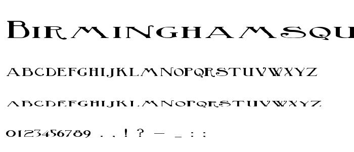 Birminghamsquat font