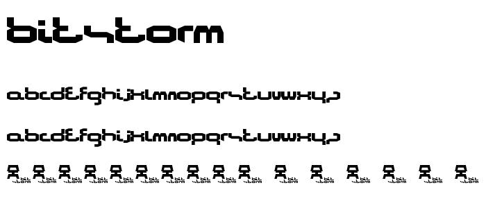 Bitstorm font