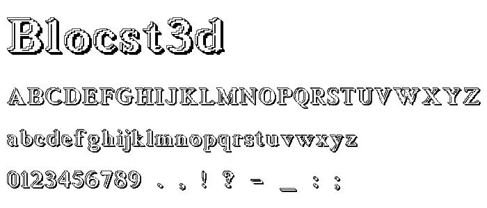 Blocst3d font