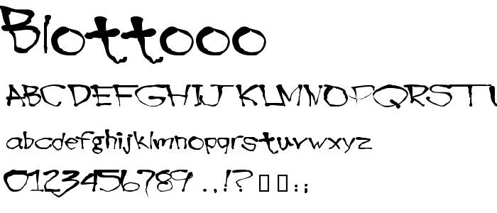 Blottooo font