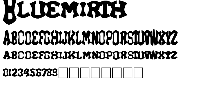 Bluemirth font