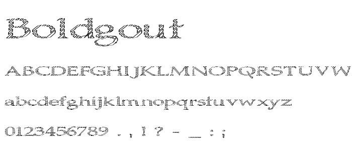 Boldgout font