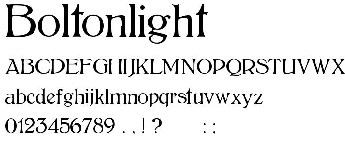 Boltonlight font