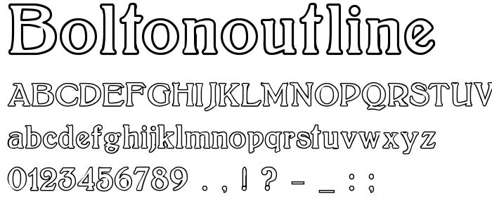 Boltonoutline font