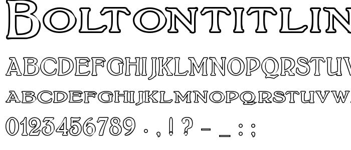 Boltontitlingoutline font