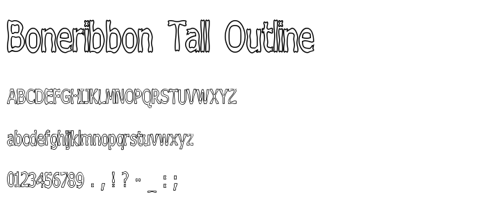 Boneribbon Tall Outline font