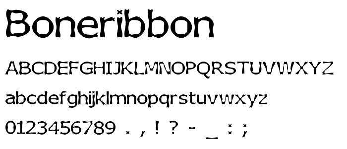 Boneribbon font