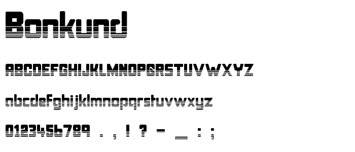 Bonkund font
