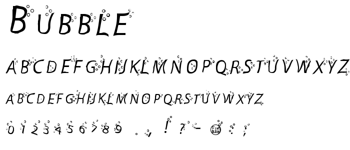 Bubble font