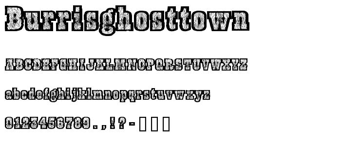 Burrisghosttown font