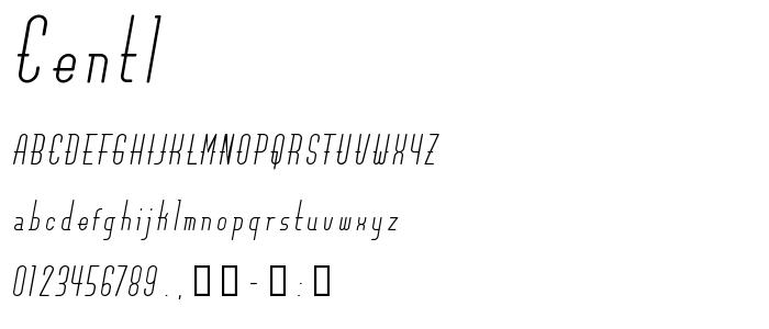 Centl font