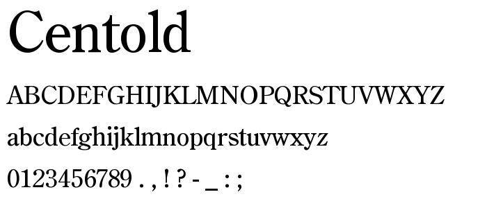Centold font