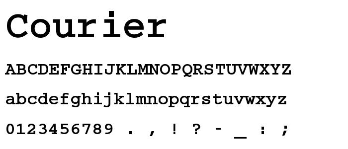 COURIER.TTF font