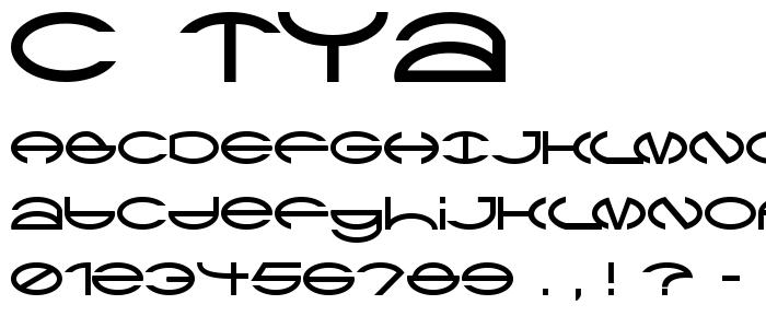 C Tya font