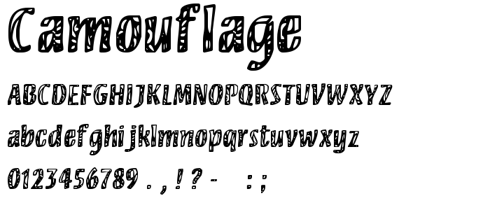 Camouflage Free Font Download