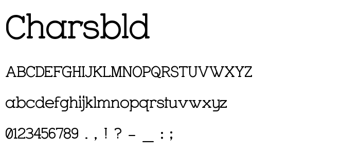 Charsbld font