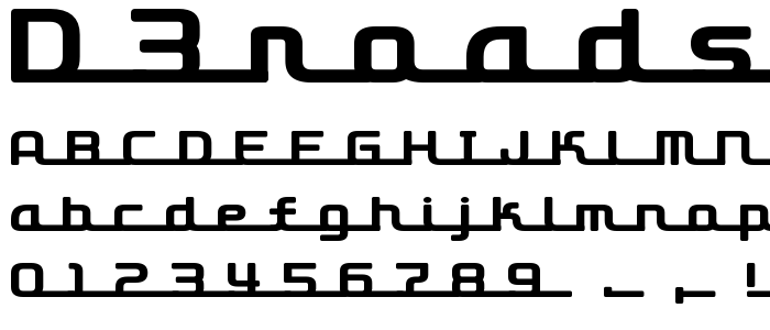 D3RoadsterismL.TTF font
