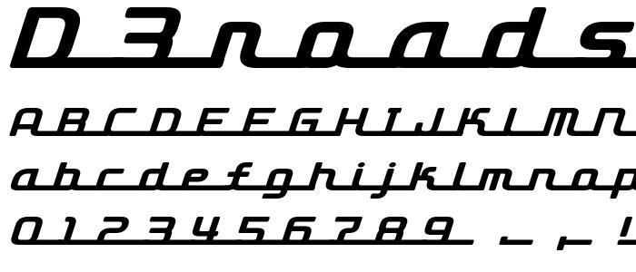 D3roadsterismli font