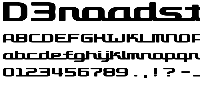 D3roadsterismw font