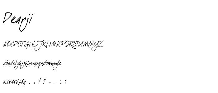 Dearji font