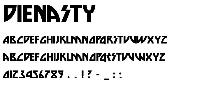 Dienasty font