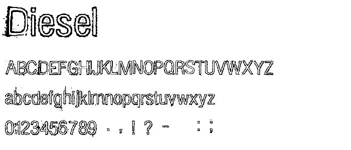 Diesel font