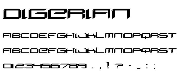 Digerian font