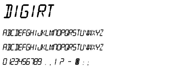 Digirt font