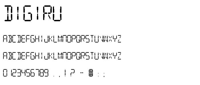 Digiru font
