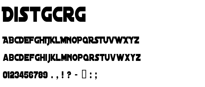 Distgcrg font