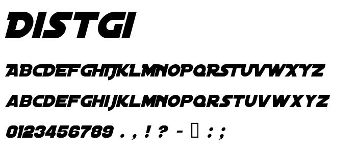 Distgi font